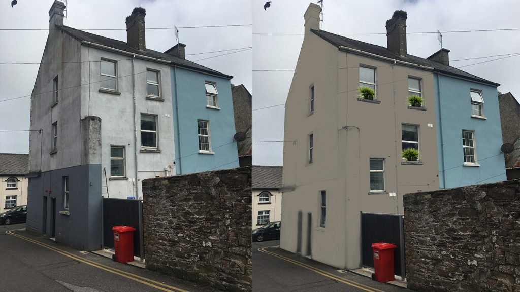 Using Fleetwoods Westport paint colour on a 3 story building.